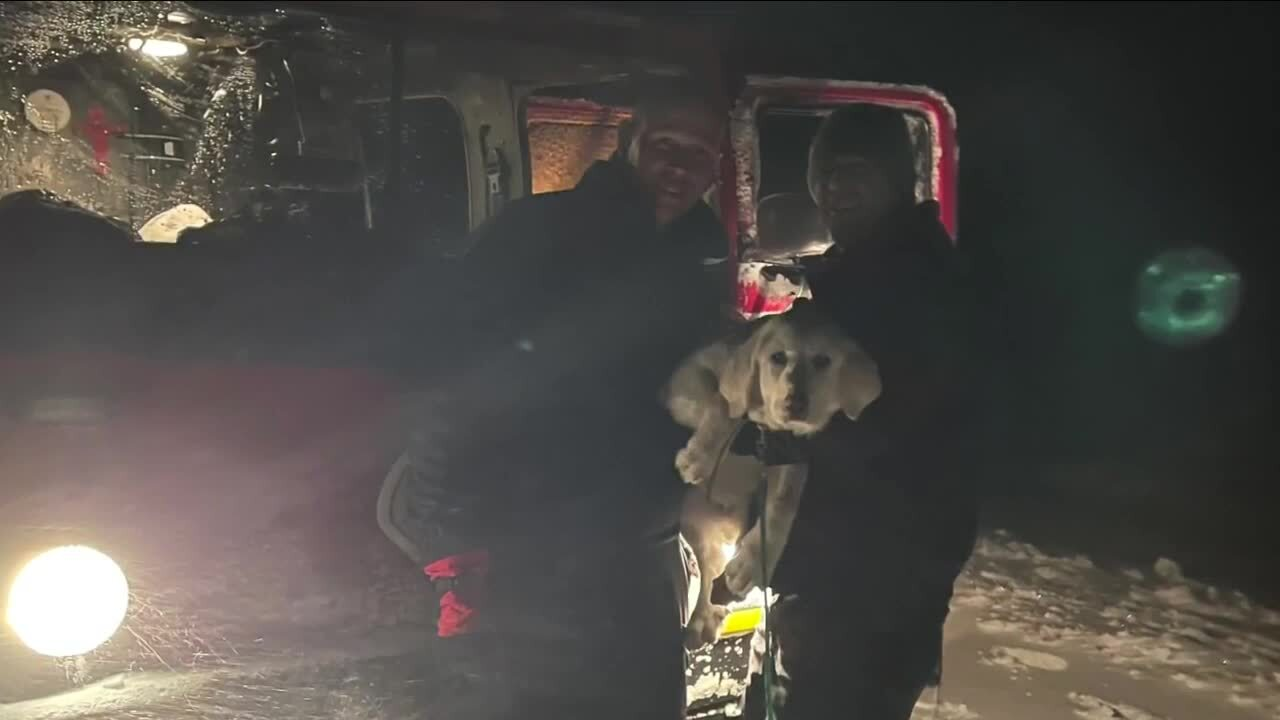 Elizabeth Fire Rescue saves puppy inside stranded car during snowstorm