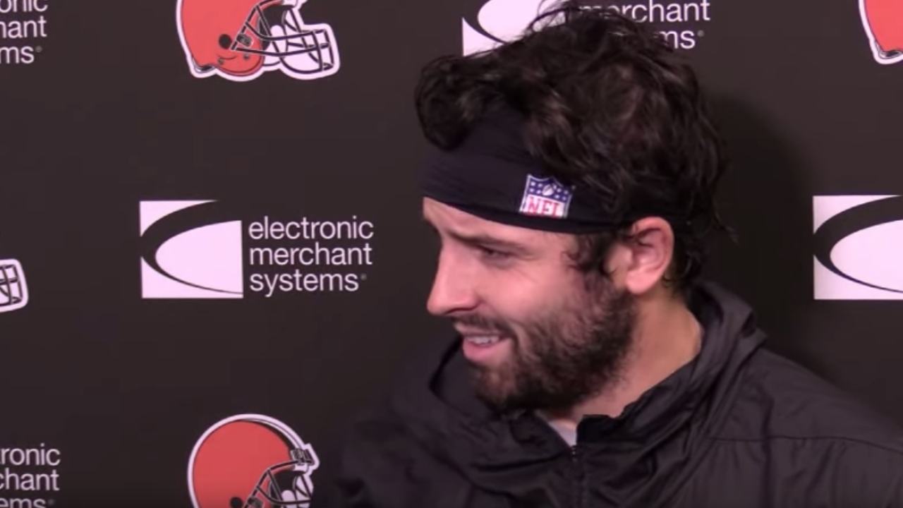 Frustrated Baker Mayfield
