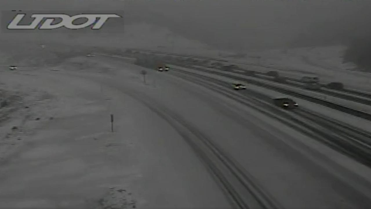 Snowy Utah Road Conditions, April 6, 2021