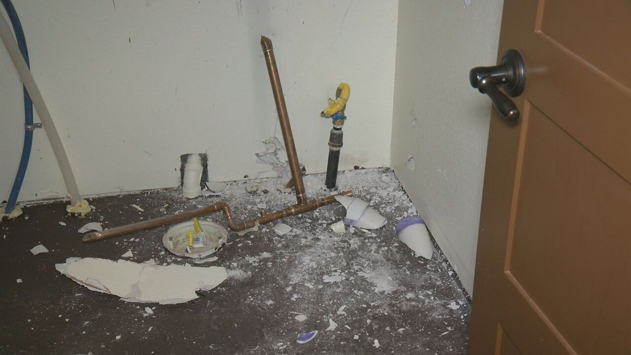 Thieves destroyed Dean's utility closet and took his water heater