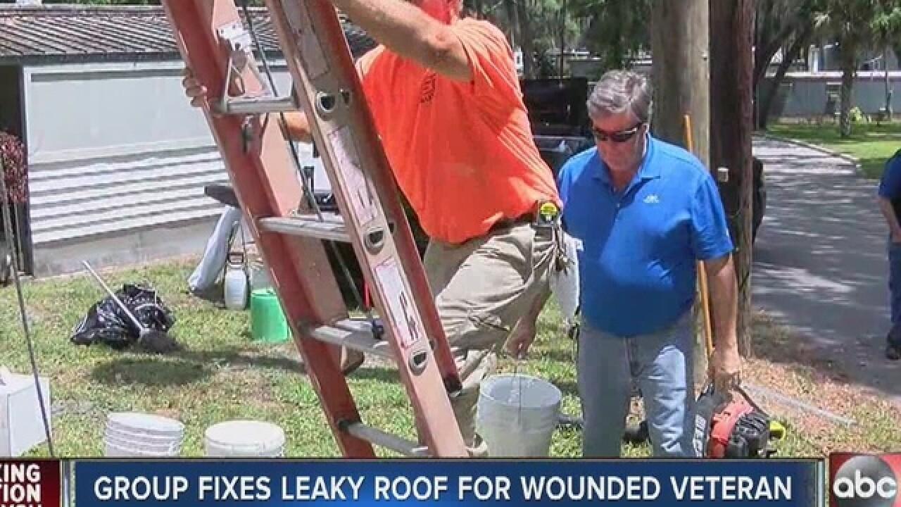 Tampa Group Helps Repair Vet S Roof