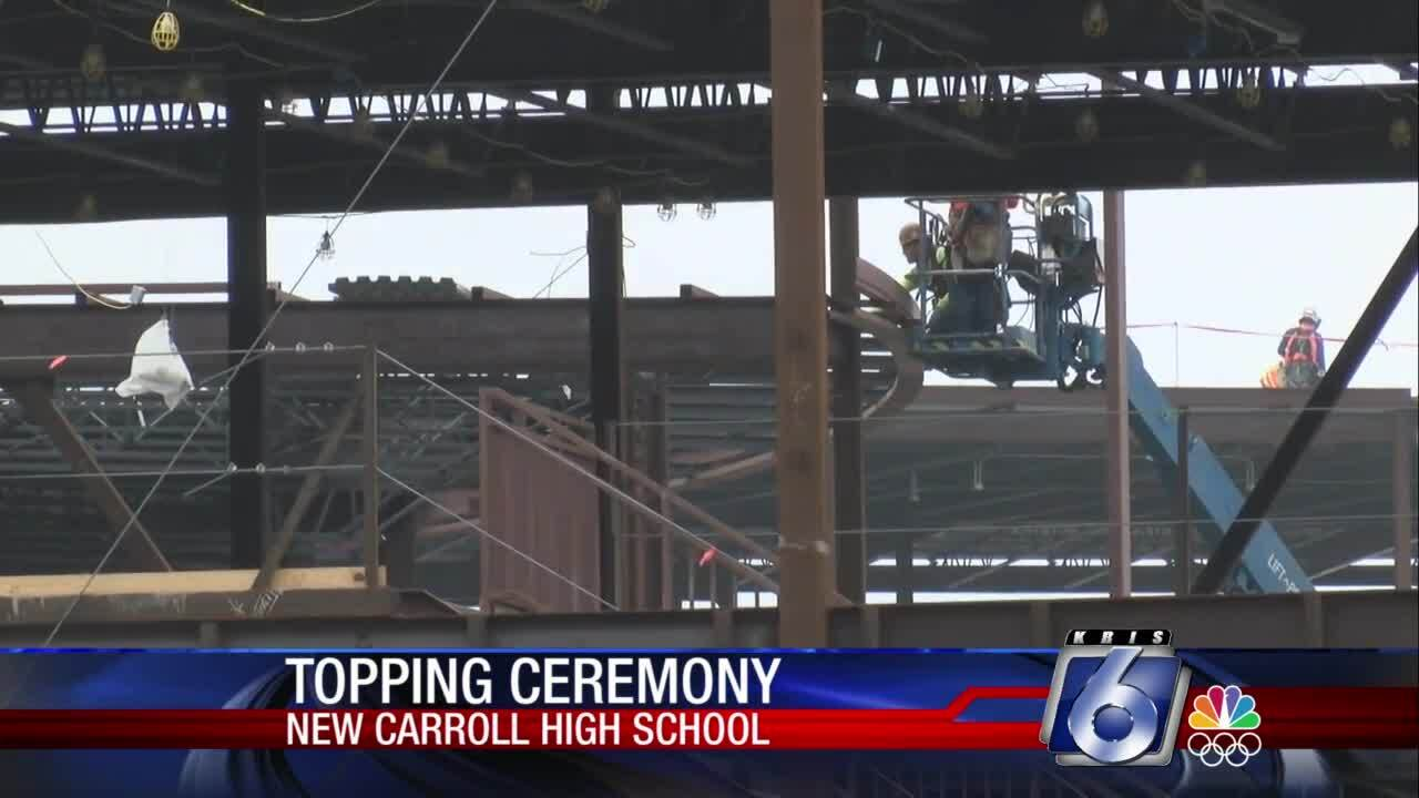 Topping-off ceremony at Carroll High School