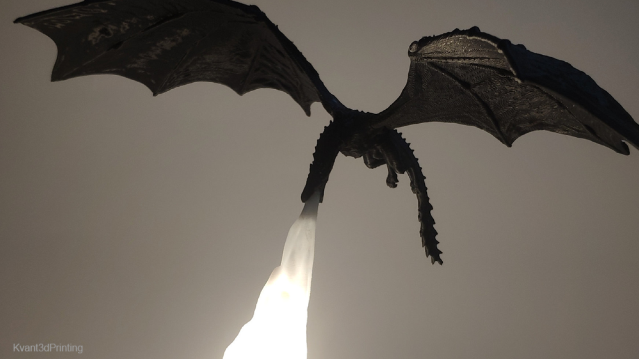 Game of Thrones fans will love this fire-breathing lamp