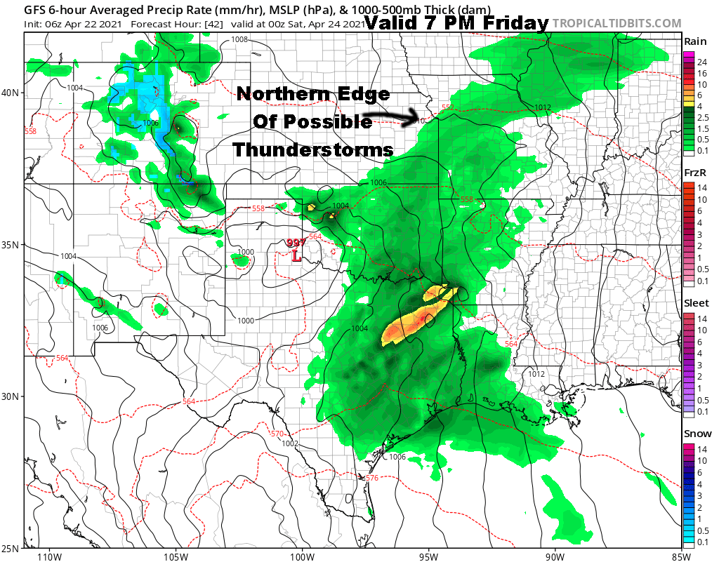 Surface Forecast Valid Friday Evening