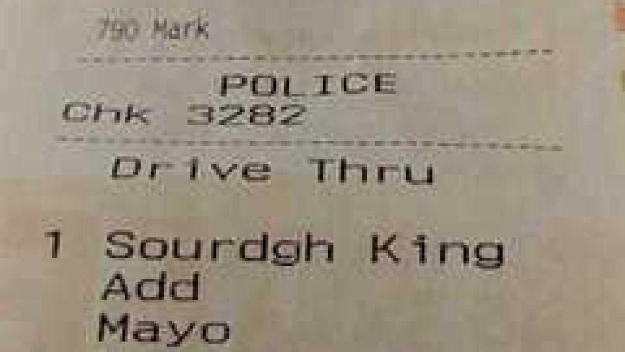 Burger King denies dirt was on officer's burger