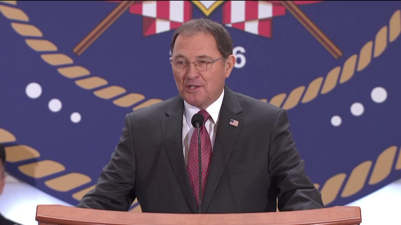 Gov. Herbert talks pioneers, partnerships for third inauguration