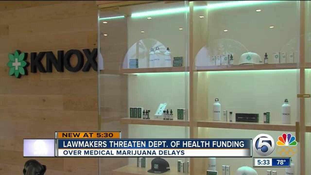 Lawmakers target Department of Health salaries and expenses after medical marijuana delays