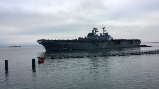 A familiar ship returns: the USS Wasp is back in Norfolk after more than two yearsaway