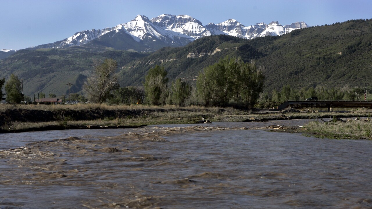 UNCOMPAHGRE RIVER COLORADO FLOODS