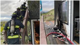 House fire near Mt. Sentinel in Missoula