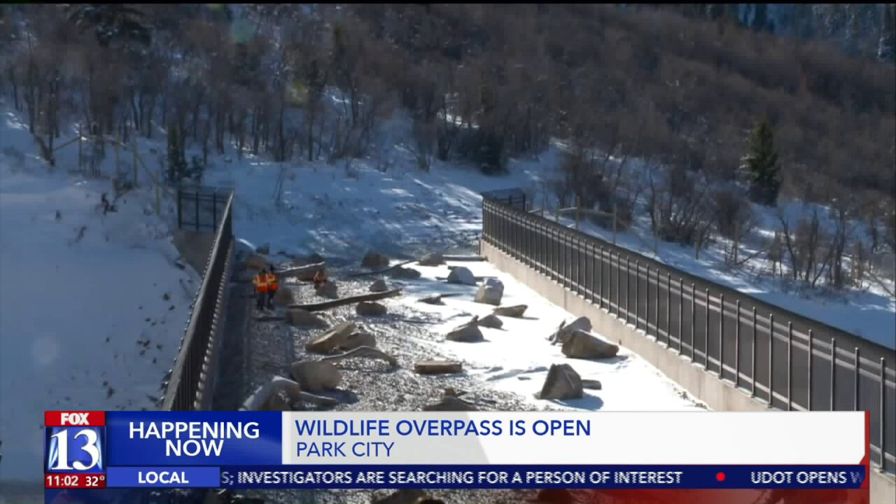 UDOT unveils $5 million wildlife bridge over I-80 in Parleys Canyon