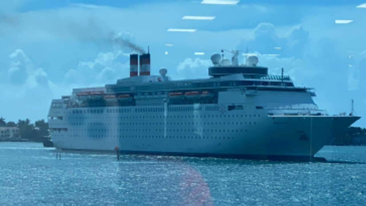 The Bahamas Paradise Grand Classica cruise ship pulls into the Port of Palm Beach on June 3, 2021.jpg