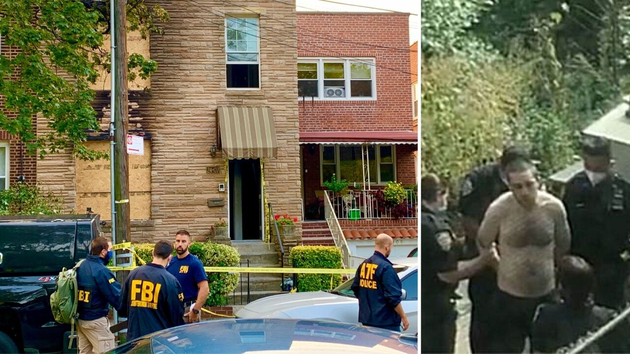 Scene of Queens house fire where possible bomb-making materials found