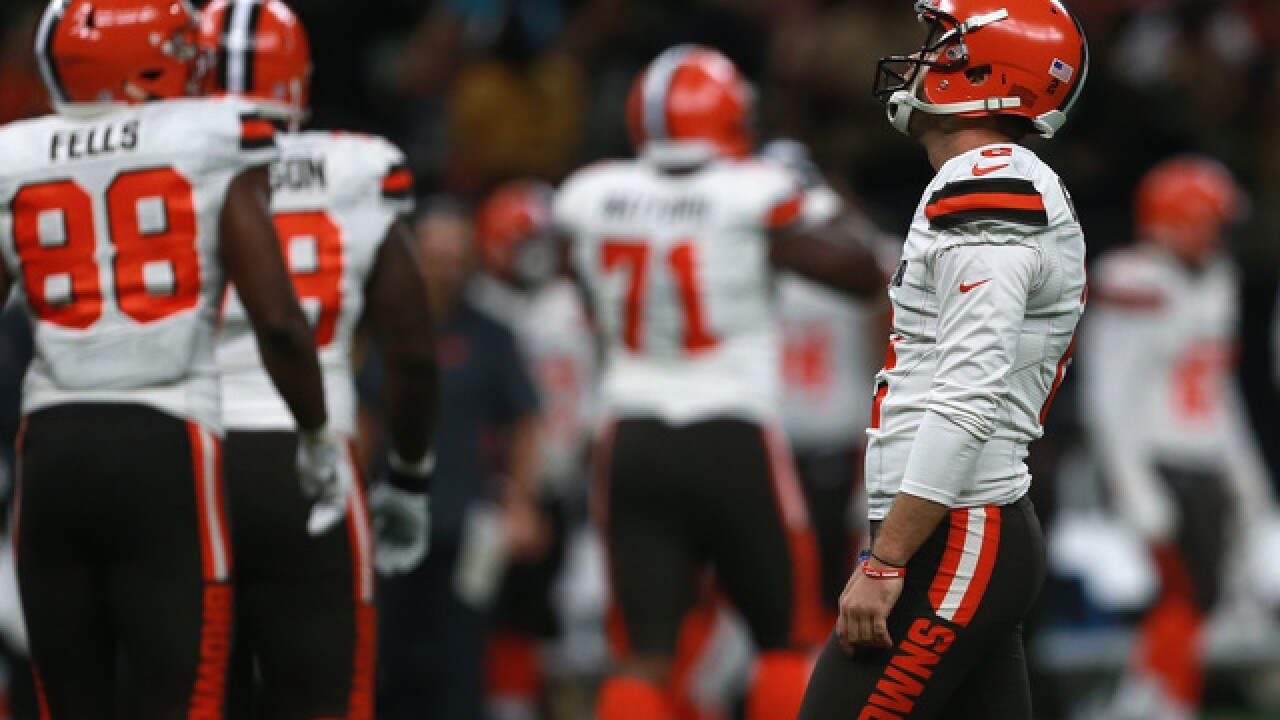 Saints prolong Browns winless streak 21-18