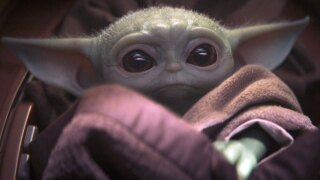 """'Baby Yoda"""" from The Mandalorian."""