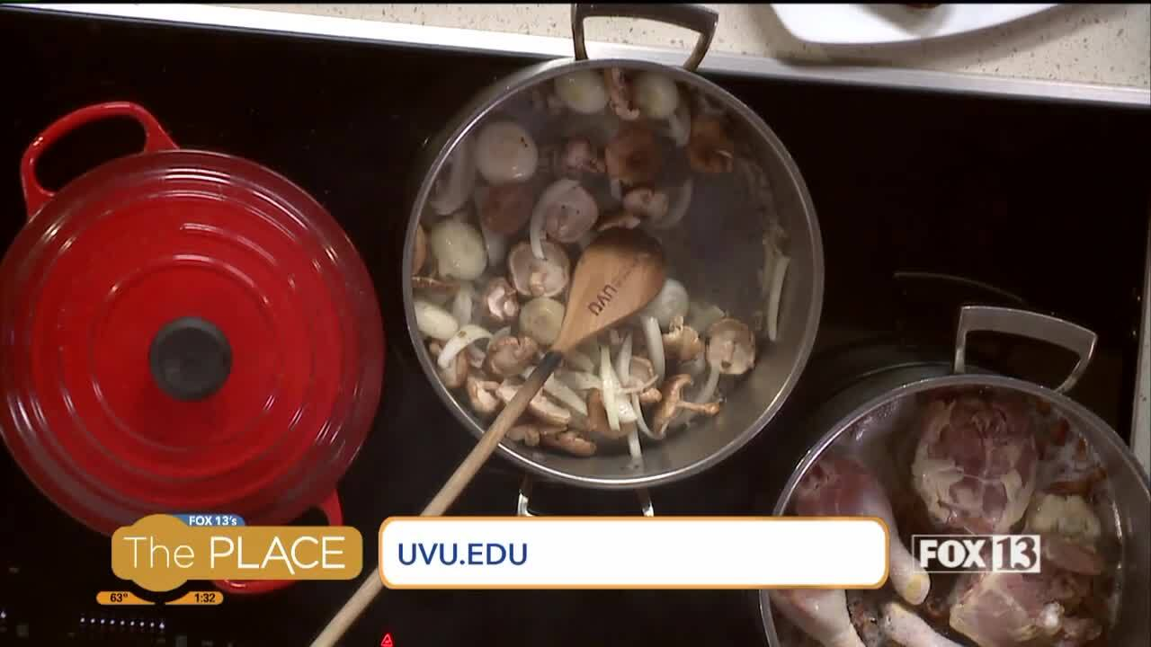 Coq au vin recipe from chefs at UVU Culinary Arts