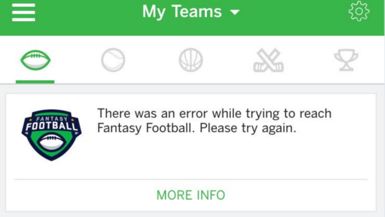 ESPN's fantasy football experiences outage during Week 1