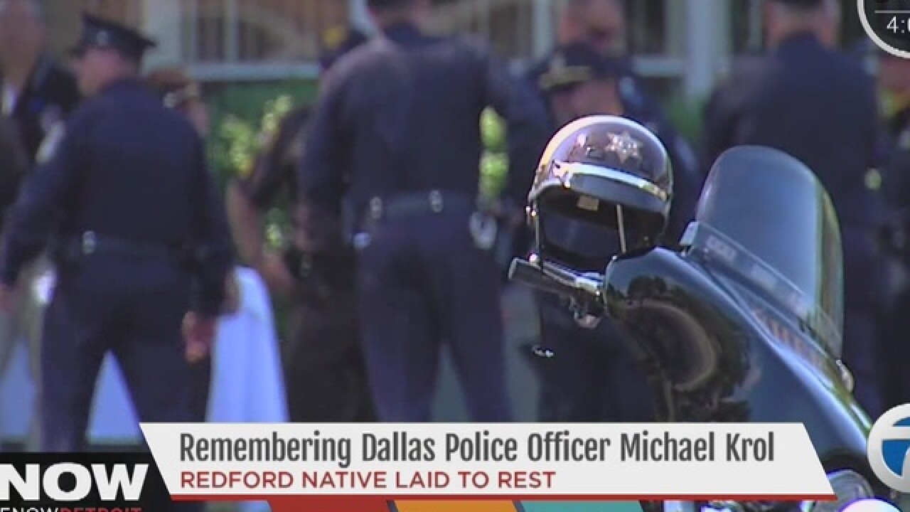 Funeral for Dallas police officer Krol today