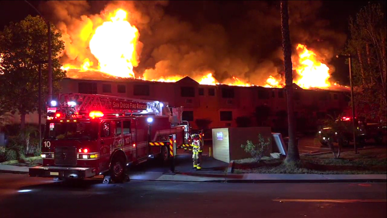 Guests rush out as blaze destroys La Mesa motel