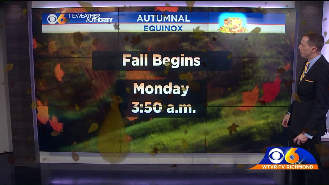 Autumn begins Monday, but summer is still hanging on