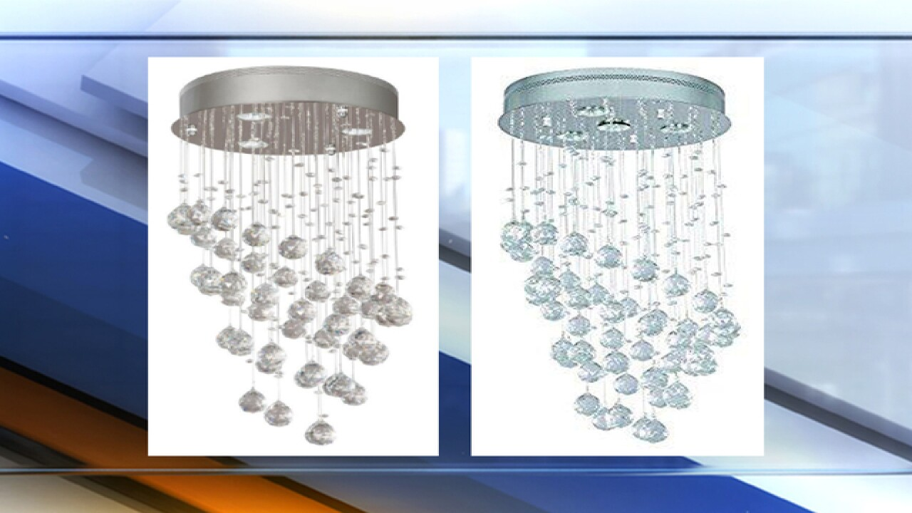 Crystal Chandeliers Sold Exclusively At Home Depot Recalled For Burn