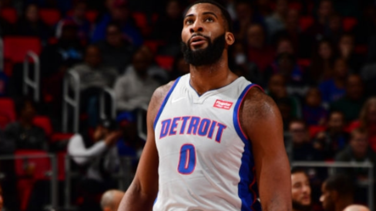 Andre Drummond out for Pistons against Harden-less Rockets