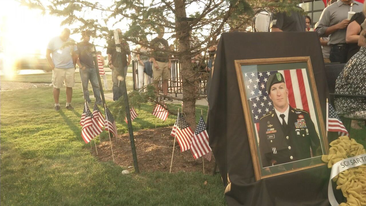 Falcon community comes together over fallen soldier