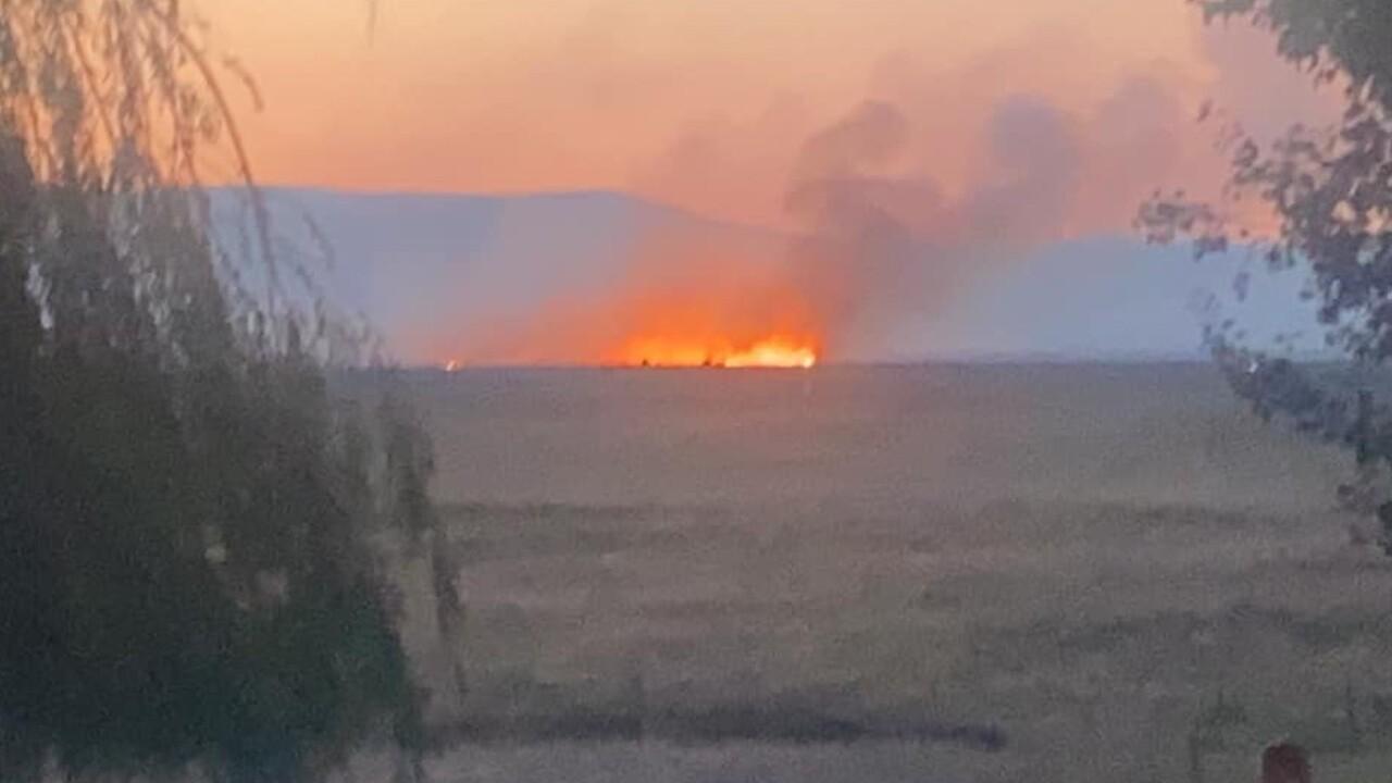 CSKT battling Horseshoe Fire along Flathead River