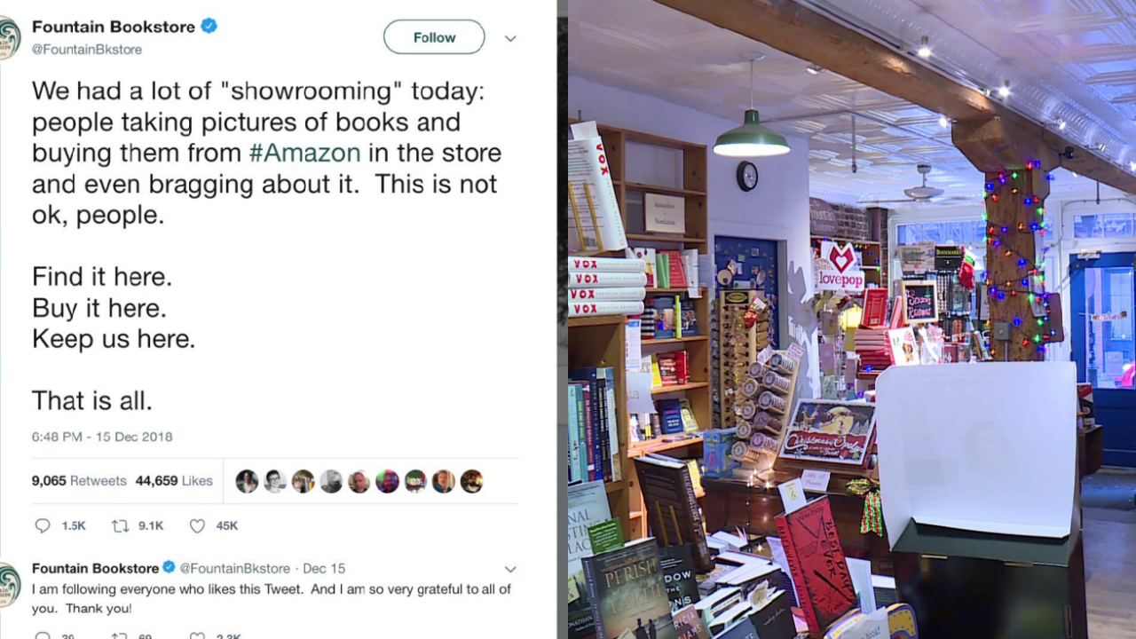 Richmond bookstore owner's viral tweet warns about 'showrooming'