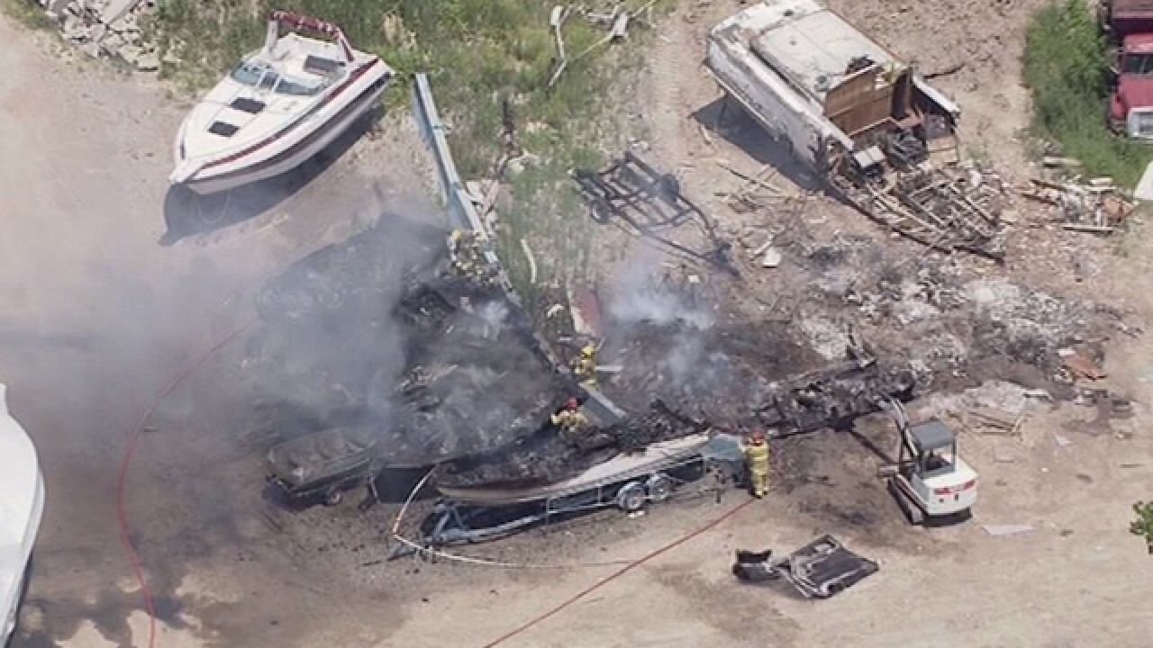 Several boats caught fire at marina in Rockwood