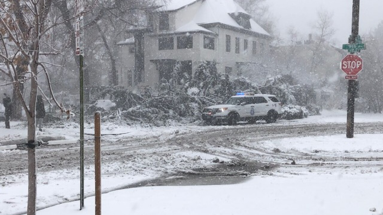Live updates: Numerous road closures, slick roads a day
