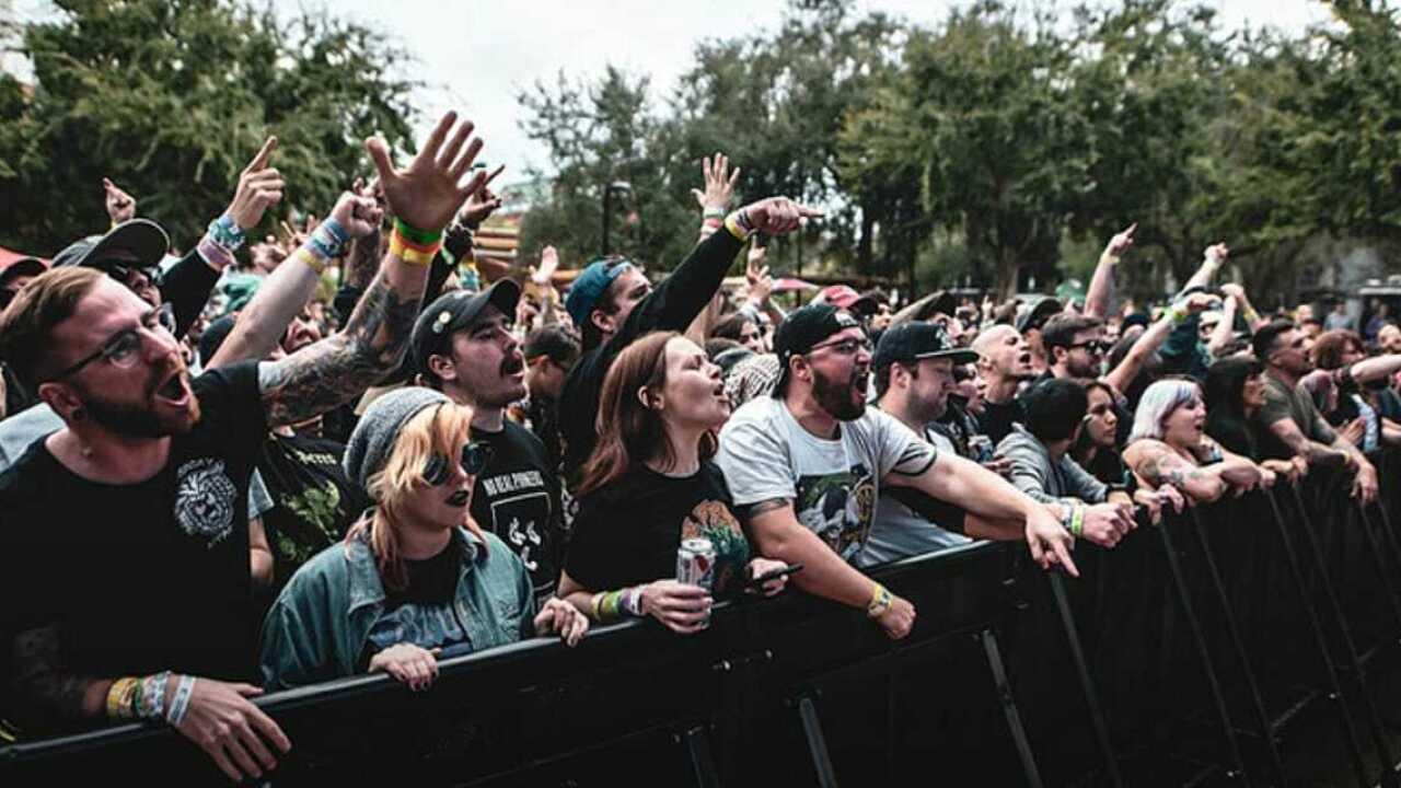 Crowd at a punk rock concert