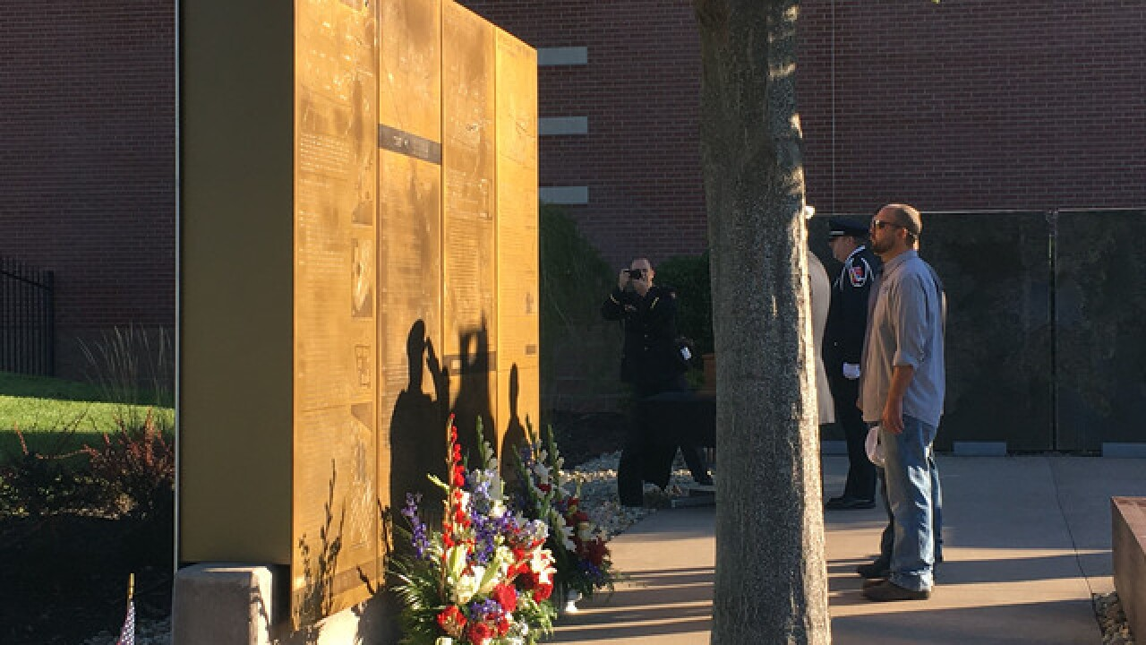 People visit 9/11 Memorial in Overland Park