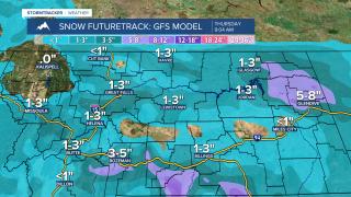 Snow expected overnight through Thursday morning