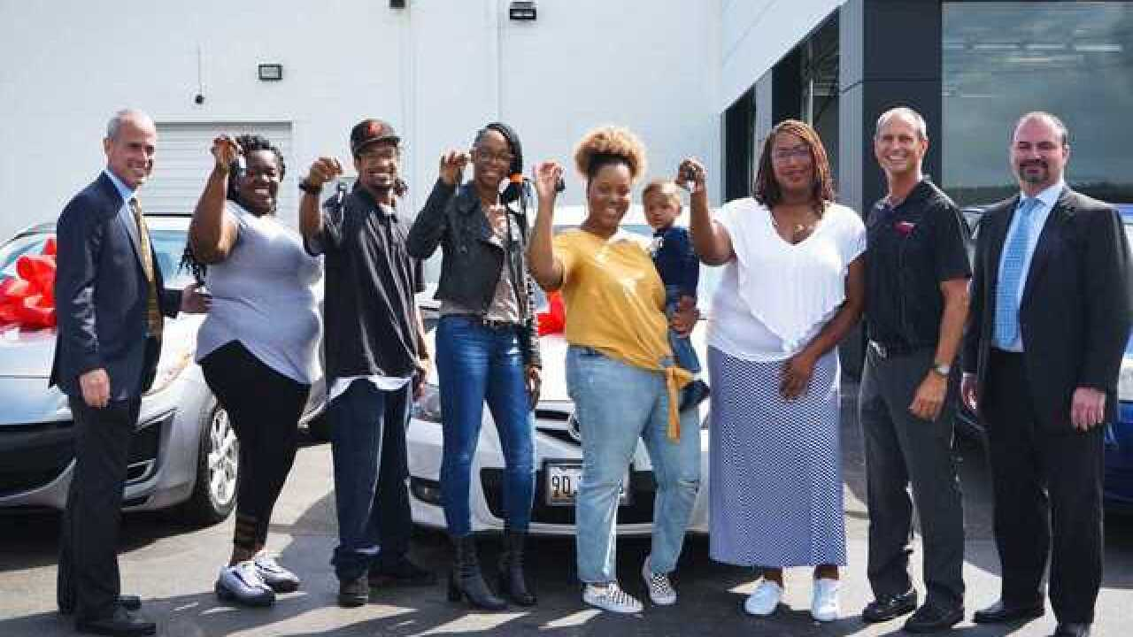 Five families gifted free cars by Heritage Mazda Catonsville and Vehicles for Change