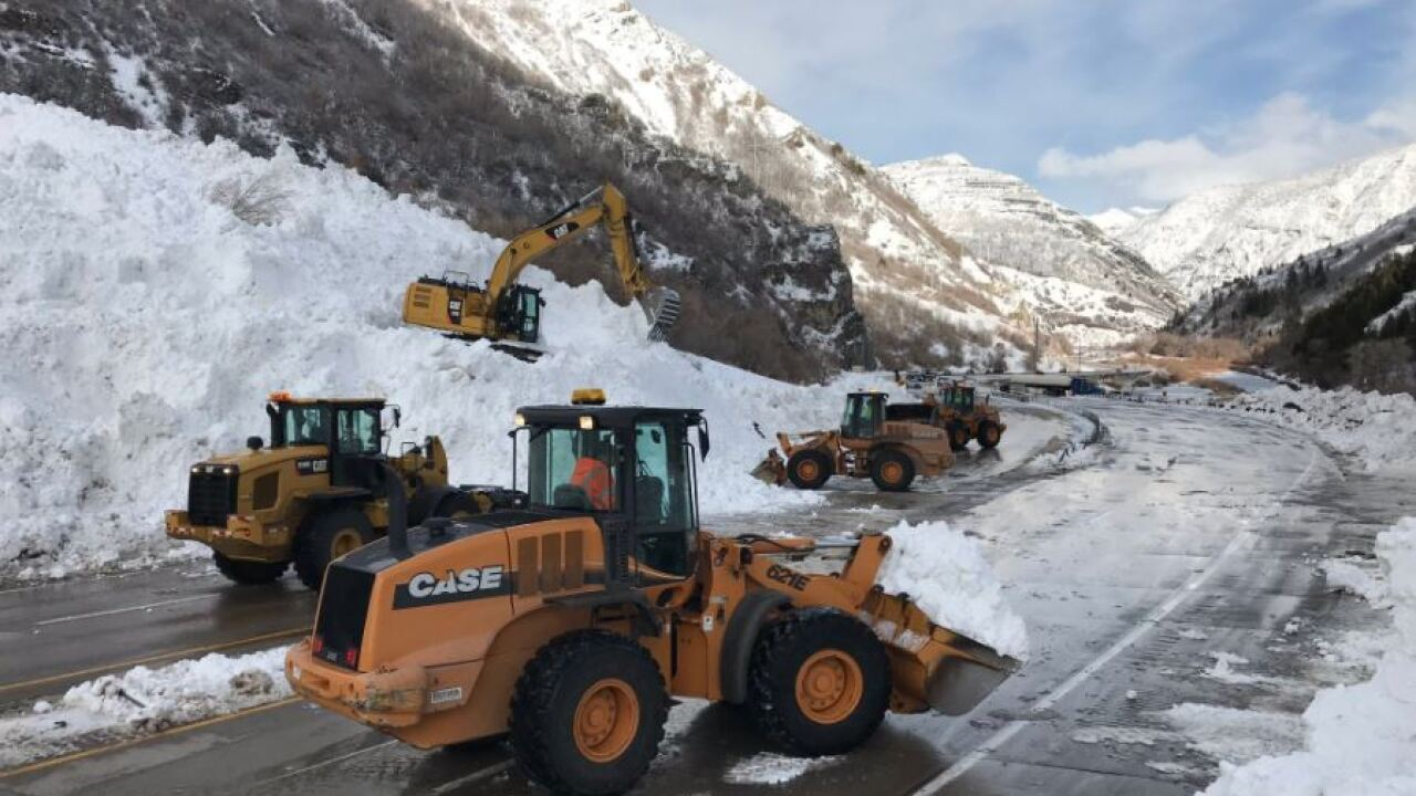Roadway through Provo Canyon reopens afteravalanche