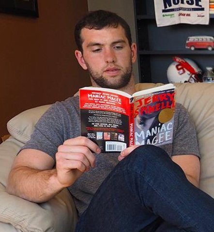 How you can join Andrew Luck's book club