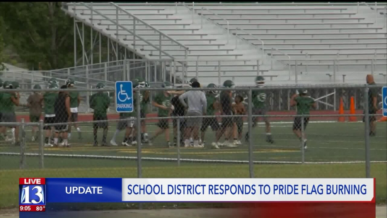 Kearns football players suspended for Pride flag burning, 'all gays die' Snapchat video