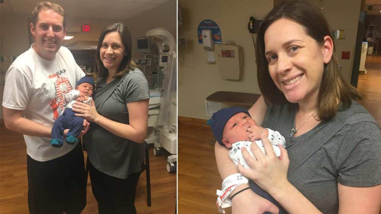 WPTV reporter Stephanie Susskind and her husband welcomed new baby Miles!