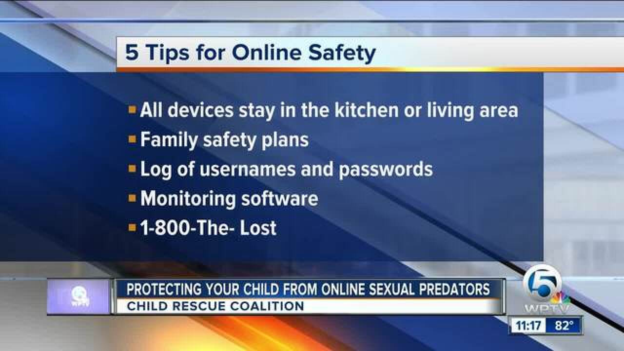 Advice on protecting your children from online sexual predators