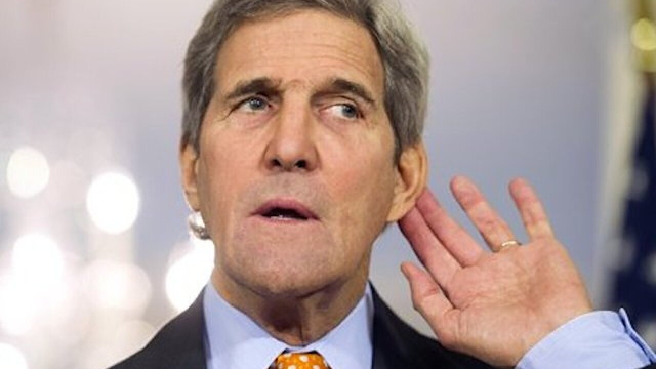 Kerry arrives in Brussels for terrorism talks