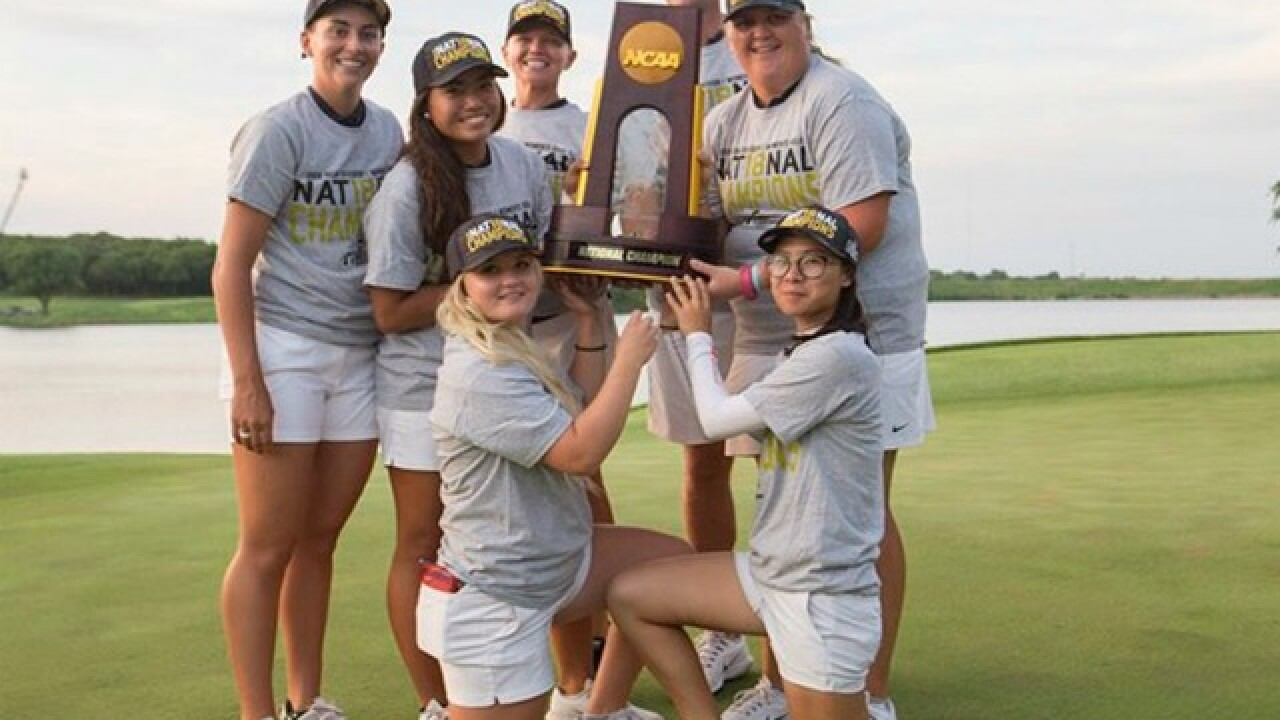 Women's golf team gives University of Arizona its 19th NCAA national championship