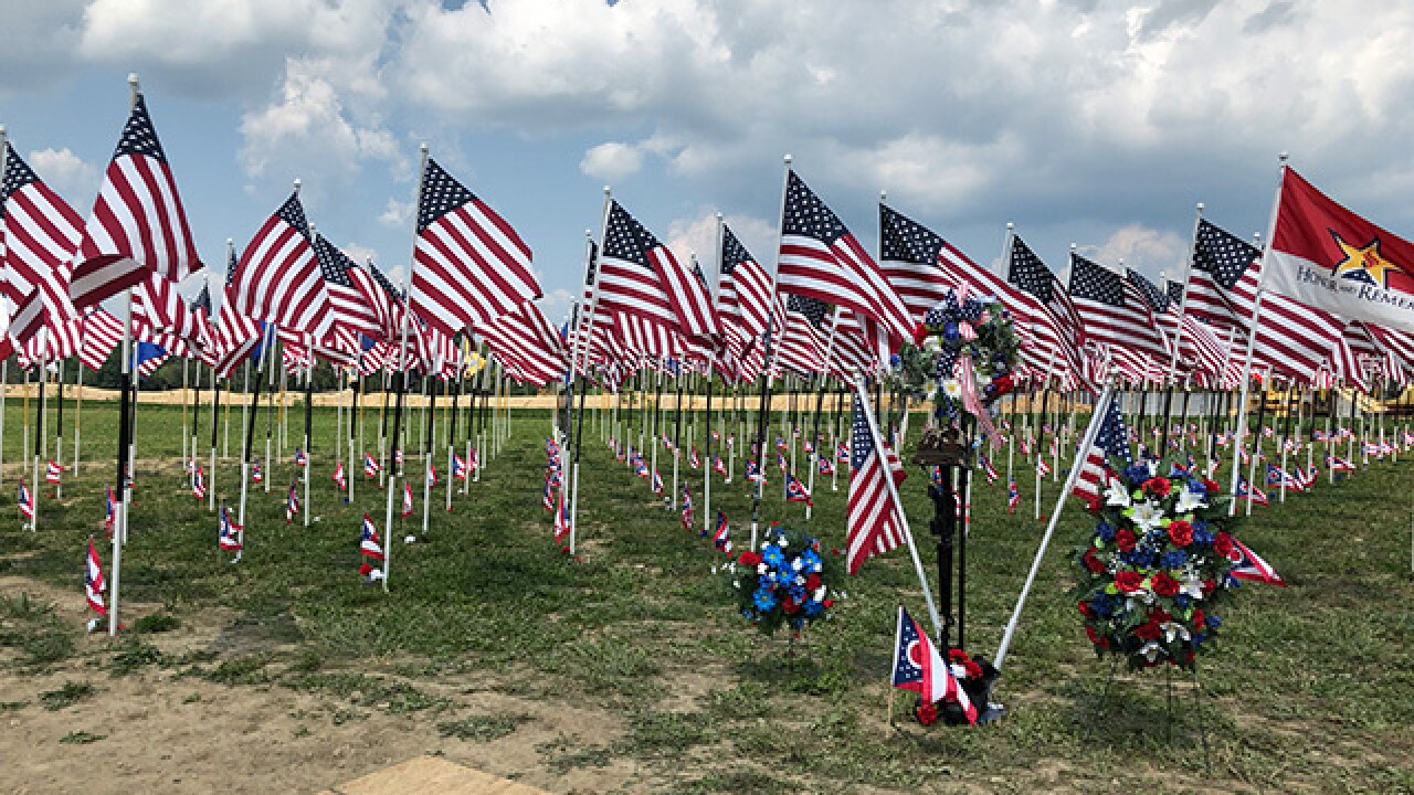 Traveling flag memorial honors the fallen