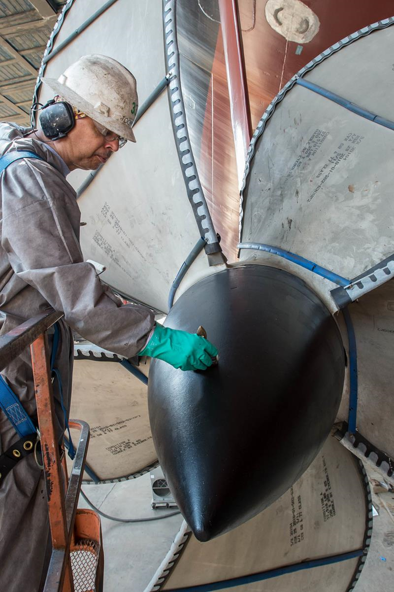 Photos: 30-ton propellers installed on future USS Gerald R. Ford aircraft carrier