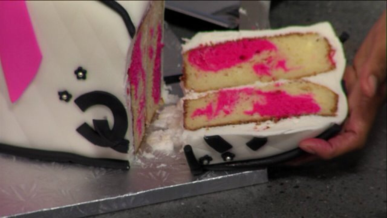 Local Baker Michelle Wilson served up a cake that looked as great as ittasted!
