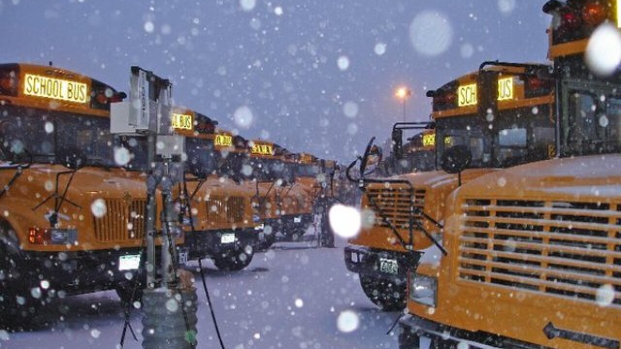 School delays/closures for Thursday, March 24