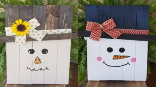 How To Make Reversible Scarecrow And Snowman Decoration For Your Front Porch