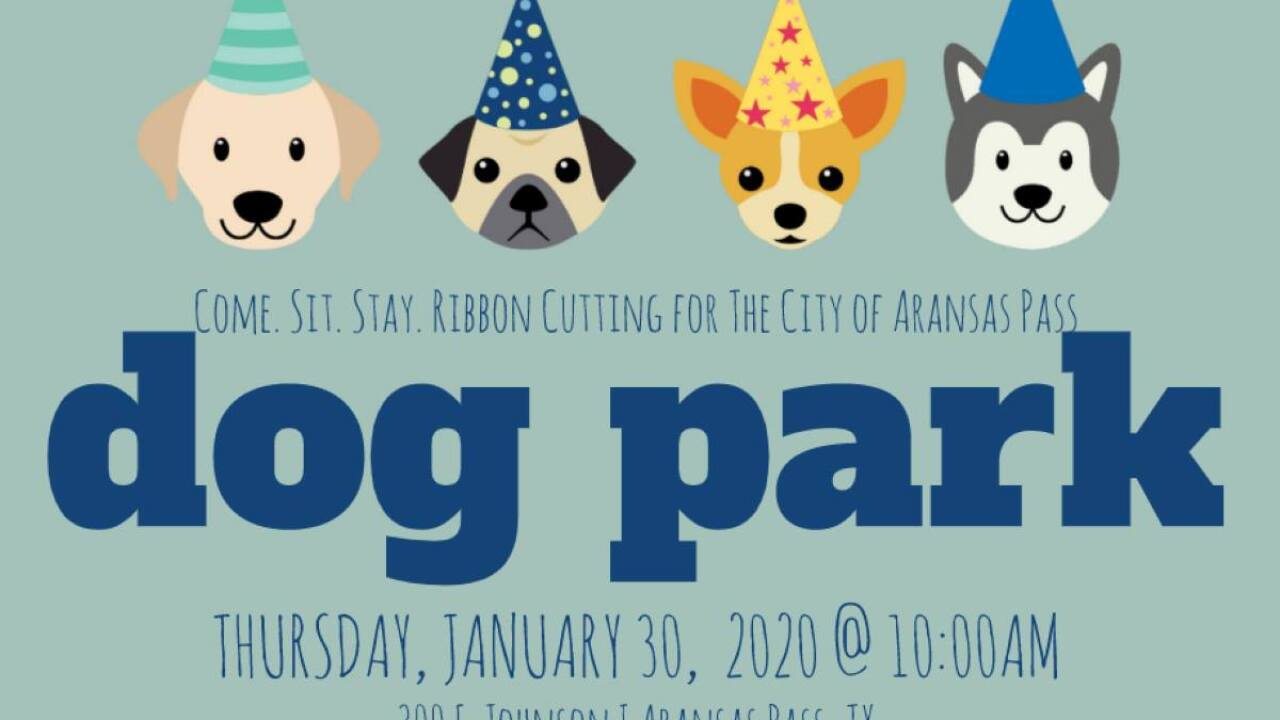 Aransas Pass Dog Park Ribbon Cutting this Thursday.jpg
