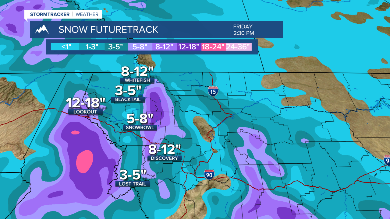 A foot of snow possible for Lookout Pass by Friday morning