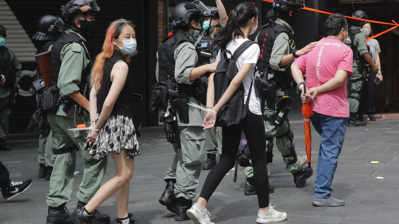 Hong Kong police make first arrests under strict new security law